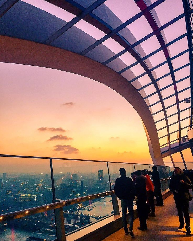 Another sweet London sunset at the Sky Garden captured by @meletispix by timeoutlondon