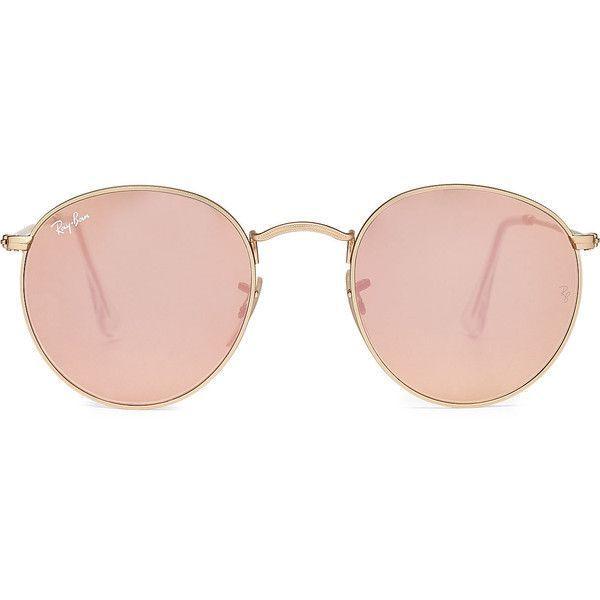 Ray-Ban RB3447 Round Metal Flash Sunglasses
