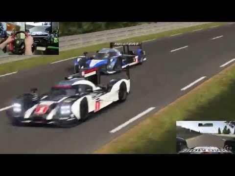 [38] XboxOne Forza 6 Racing Wheel Gameplay  Le Mans 2015 Porsche Team 91...