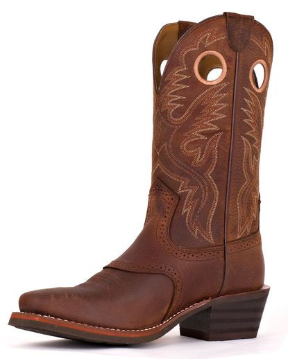 Mens Heritage Roughstock Square Toe Boot - Brown Oiled Rowdy