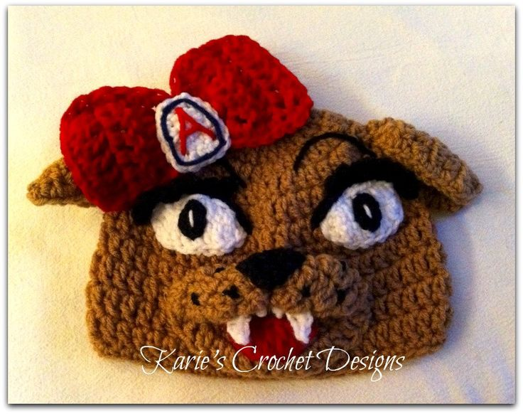 U of A / Wilma / University of Arizona Mascot / Beanie / Hat Crocheted by KariesCrochetDesigns on Etsy https://www.etsy.com/listing/86552480/u-of-a-wilma-university-of-arizona