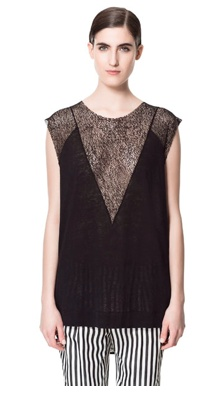 Zara: T-SHIRT LINHO RED  19,95 EUR