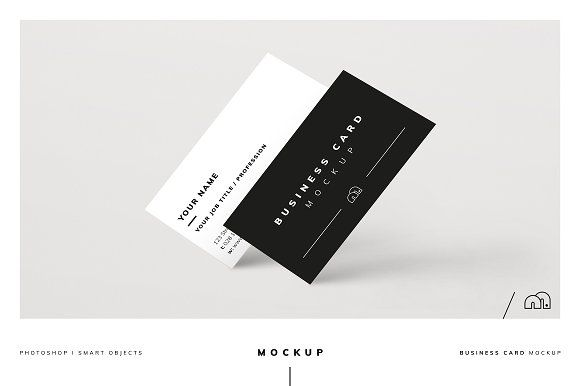 Business Card Mockup by bilmaw creative on @creativemarket Professional and minimal business card presentation mockup templates. These templates are packed with features and very easy to edit using Photoshop Smart Object layers. With independent shadows, optional reflections, colour background and texture changes, you can personalise to suit any design.