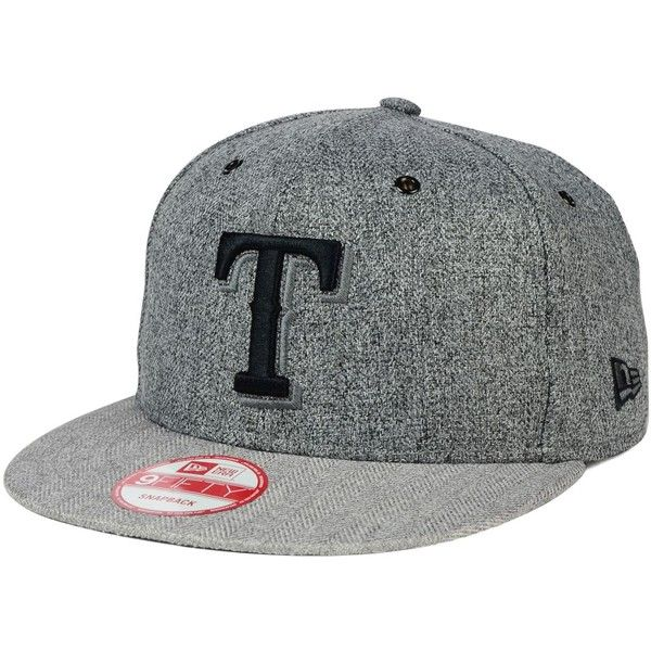 New Era Texas Rangers 2 Tweed 9FIFTY Snapback Cap ($32) ❤ liked on Polyvore featuring men's fashion, men's accessories, men's hats, grey herringbone, mens caps and hats and mens snapback hats