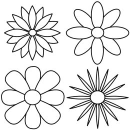 find this pin and more on flowers to color - Simple Pictures To Color
