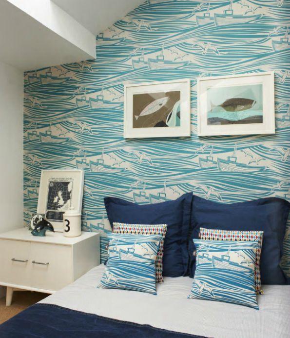 From brightbazaar: Seaside Bedrooms, Beachi Bedrooms, Nautical Bedrooms, Boys Rooms, Nautical Wallpapers, Child Bedrooms, Guest Rooms, Bedrooms Ideas, Coastal Bedrooms