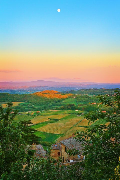 Sunset in Siena, province of Siena Tuscany region Italy