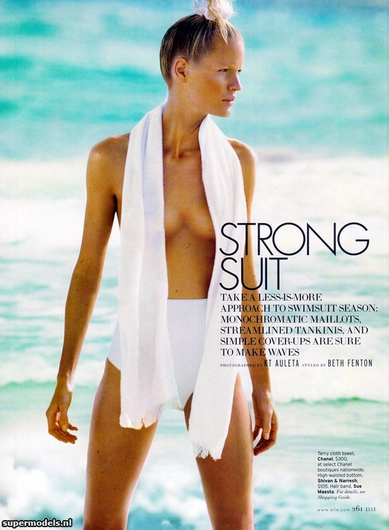 Caroline Winberg in 'Strong Suit' - Photographed by KT Auleta (Elle US June 2012)    Complete shoot after the click...