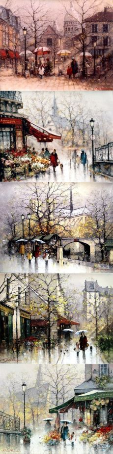 Художник Ramon Ward-Thompson из Новой Зеландии. Весна в Париже.