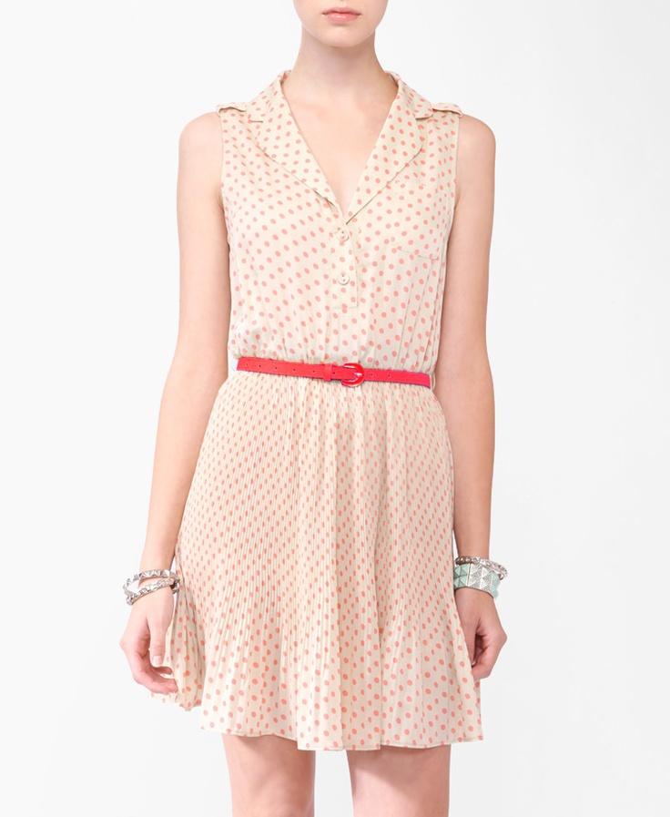 Collared Polka Dot Dress w/ Belt $24.80: Forever 21, Polka Dots Dresses, Collars Polka, Forever21 Com, 2000043829, Dresses Belts, Dress Belts, Polka Dot Dresses, Belts 24 80