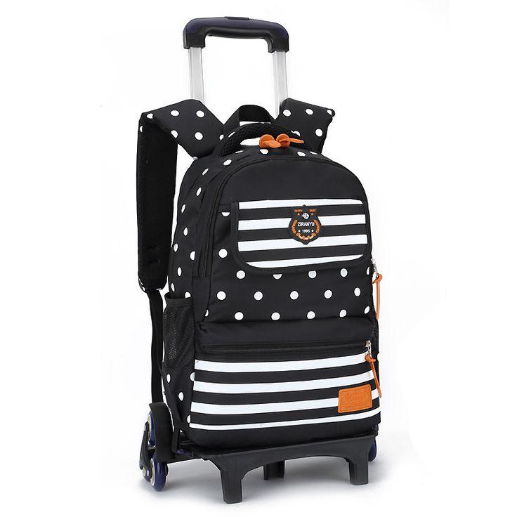 Trolley School Bag with Wheels Backpack Children Travel Rolling Luggage School bag for Girls Back Pack Bolsas Mochilas Bagpack