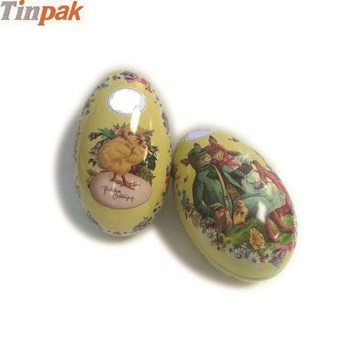 big Easter egg tin
