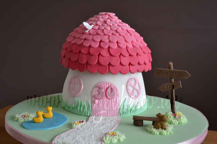 Cottage cake made using a giant cupcake mould :o)  www.cakeybake.co.uk