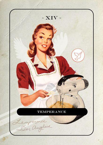 Temperance by jordan clarke on Flickr.  Custom Majors Only Tarot deck using vintage images, by Jordan Clarke.