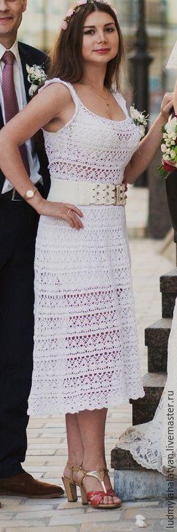 Купить Платье ажурное - белый, платье, длинное платье, платье миди, ажурное платье