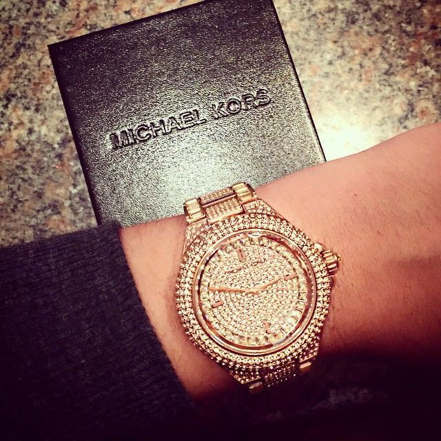Working at Nordstrom I would always see this watch and dream about it...lol love it #bling #armcandy