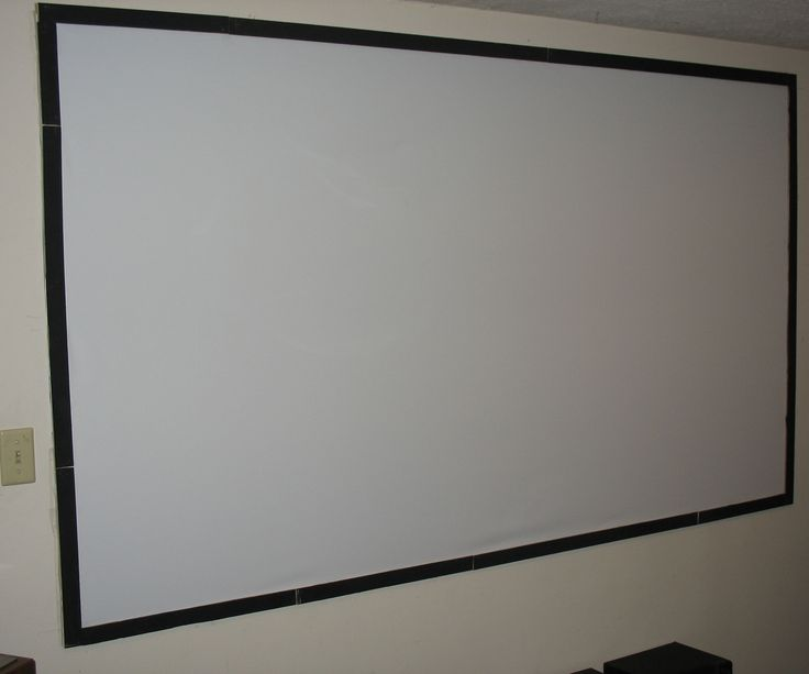 """Cheap DIY Projector screen for under $30This is a 16:9 ratio projector screen 100"""" Perfict for a basement game room,home Theater,computer monitor,(ect). This Project will run you $30 - $40 depending if the blackout cloth is on sale.So here's the list of materalsLath wood $7.99 (10) sheetsblack Spray Paint $.98Circular Sander drill attachment $4.00 """"do not do this by hand you will kill your self""""Staple gun or get staples for it staple gun $14.99 or Staples $1.99Nails """"I us..."""