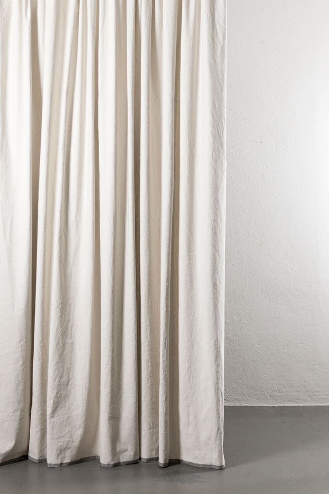 Belize Sand Stone Linen Cotton Curtains 285cm 112 Extra