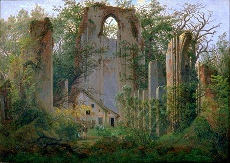 """Caspar David Friedrich…"", wrote sculptor Pierre-Jean David d'Angers, ""created a new genre: the tragedy of landscape."""