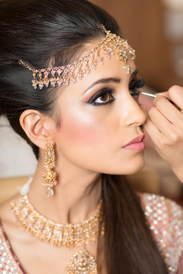 "#Desi Wedding: "" #Bridal_Makeup should bring out the bride's best features and make them look the most beautiful version of themselves. """