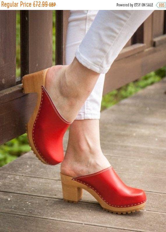 Swedish High Heel Clogs For Women