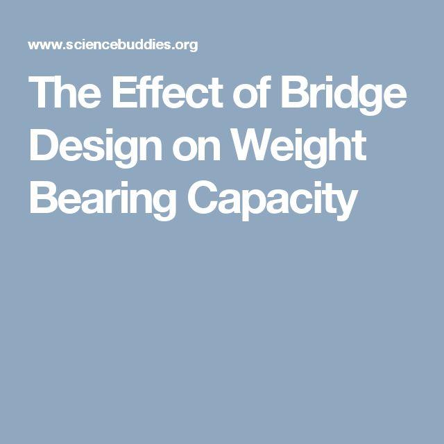 The Effect of Bridge Design on Weight Bearing Capacity