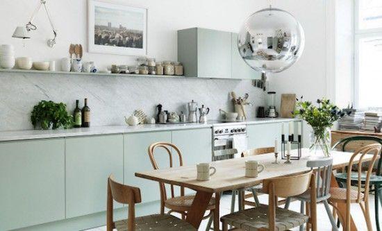 17 beste idee n over groene keuken op pinterest groene keukenkastjes keuken foto 39 s en groene - Keukenmuren schilderen ...