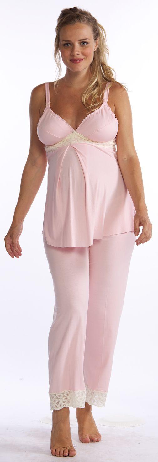 Lotus Nursing & Maternity Babydoll Pajama Set by Belabumbum | Maternity Pajamas  Available at Due Maternity www.duematernity.com   Best selection of Designer Maternity Clothes anywhere!