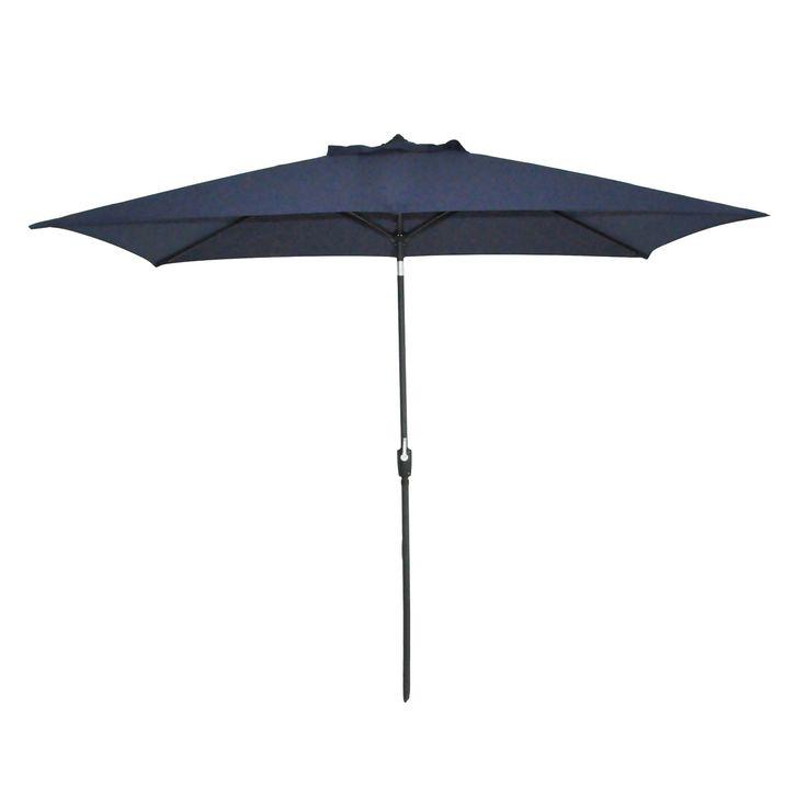 Rectangular Patio Umbrella Solid - Black Pole - Threshold. $90