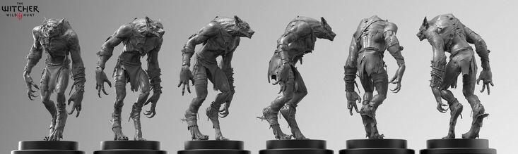 Witcher 3 Werewolf, Marcin Klicki on ArtStation at https://www.artstation.com/artwork/witcher-3-werewolf