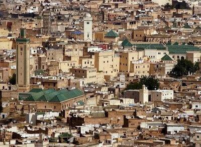 Medina de Fez, la ciudad mas grande del mundo (1,000,000hab) en la que no se permiten automoviles.