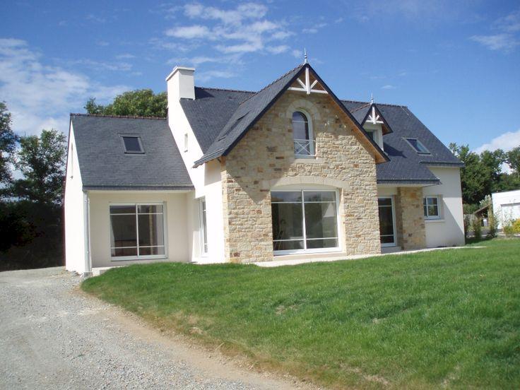 2969 best images about maison maisons on pinterest cornwall bretagne and cottage in - Construction maison en pierre ...
