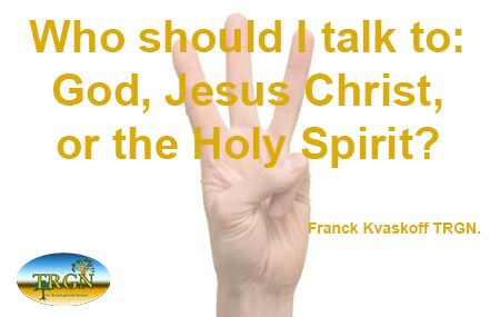 """Do you know who you should talk to, when you pray?  Or do you say """"Lord"""", just to be sure not to make a mistake? :)  Read this fast teaching we upload on our website here: http://www.therealgoodnews.org/downloads.html  Bye for now.  Franck Kvaskoff TRGN Christian ministry www.therealgoodnews.org"""
