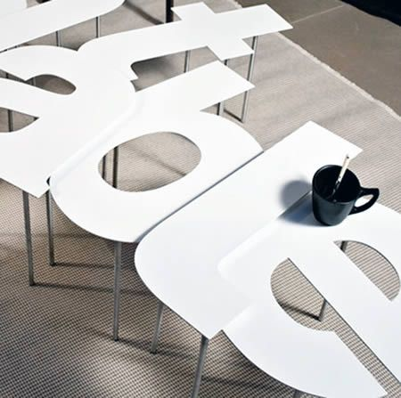 Lovely 12 Coolest Typography Themed Furniture   Themed Furniture Photo Gallery
