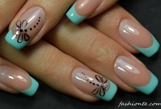 100+ Classic & Delicate French Manicure & other Beautiful Nail Art…