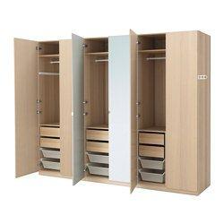 IKEA - PAX, Armario, bisagra cierre suave, , 10 años de garantía. Consulta las condiciones generales en el folleto de garantía.Utiliza la herramienta de planificación PAX para adaptar esta combinación PAX/KOMPLEMENT a tus gustos y necesidades.Gracias a las bisagras con amortiguador la puerta se cierra despacio, suave y en silencio.Si quieres organizar el interior, puedes añadir los accesorios de interior de la serie KOMPLEMENT.Las patas regulables permiten corregir posibles desniveles en el…