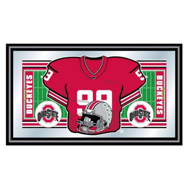 The Ohio State Football Framed Jersey Mirror - LRG1550F-OSU