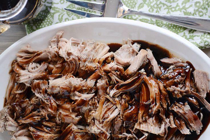 Ingredients Pork: 2 to 3 pounds boneless pork loin or pork sirloin roast, trimmed of large fat pockets 1teaspoon ground sage or poultry seasoning 1/2 teaspoon coarse, kosher salt 1/2 teaspoon coarse black pepper 1 clove