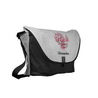 Registered Nurse, Pink Cross Swirls Messenger Bag