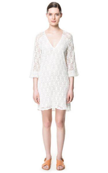 Zara abito bianco ricami 2014  #zara #abbigliamento #moda #clothes #primaveraestate2014 #primaveraestate #springsummer #springsummer2014 #moda2014
