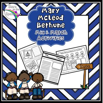 black history month mary mcleod bethune mary mcleod bethune color posters and differentiation. Black Bedroom Furniture Sets. Home Design Ideas