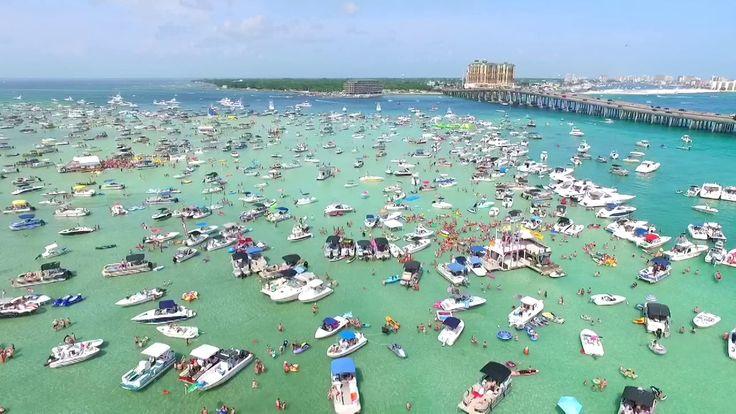 The Sandbar popularly known as Crab Island in Destin