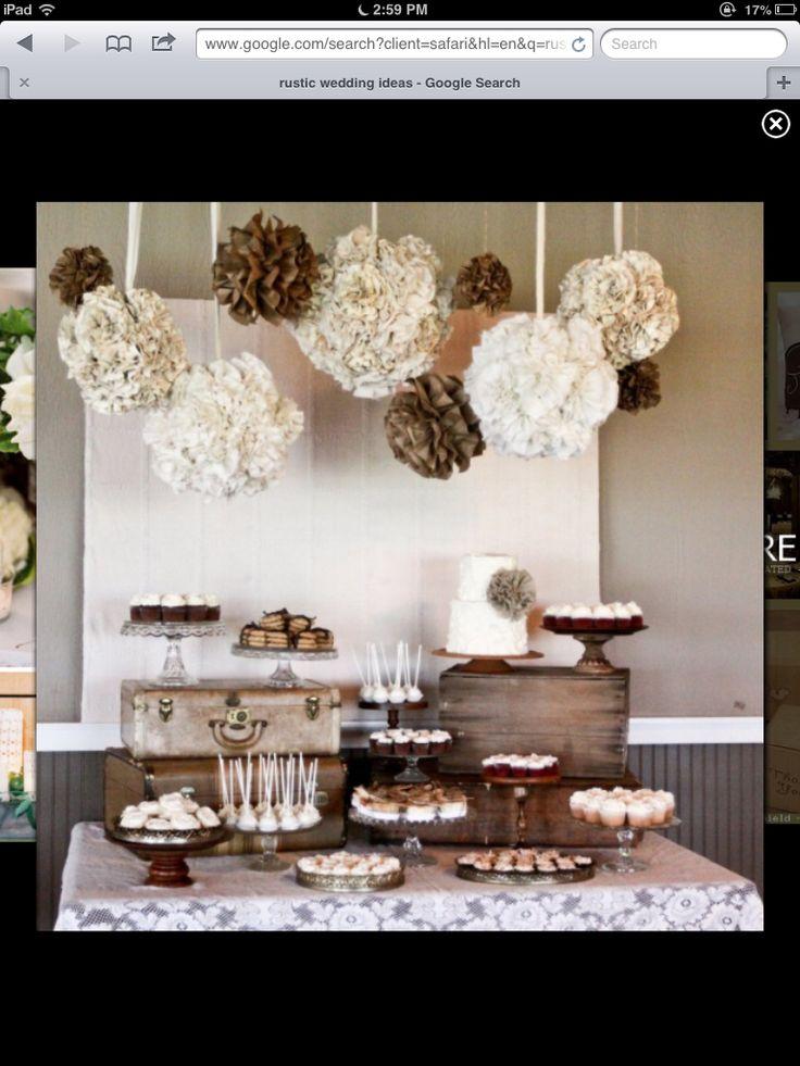 Rustic wedding ideas I would like(:
