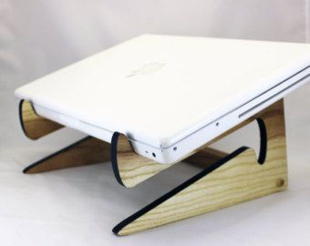 Bambú del ordenador portátil soporte de madera para los