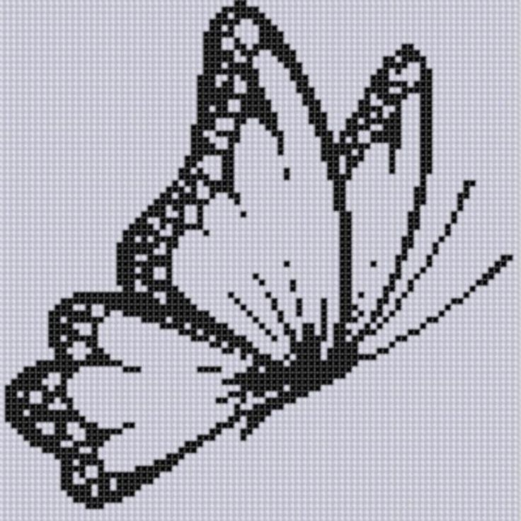 (10) Nombre: 'Bordado: Mariposa 4 Cross Stitch Pattern