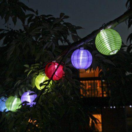 Amazon.com : Set Of 10 Oriental Round Multi Color Solar Nylon String Lights
