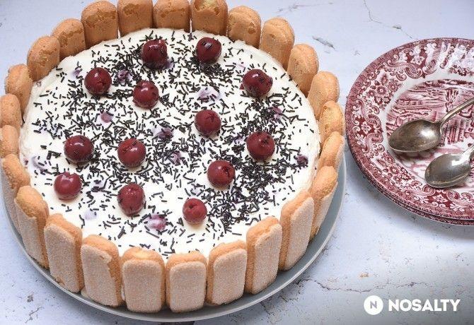 Sütés nélküli Fekete-erdő torta
