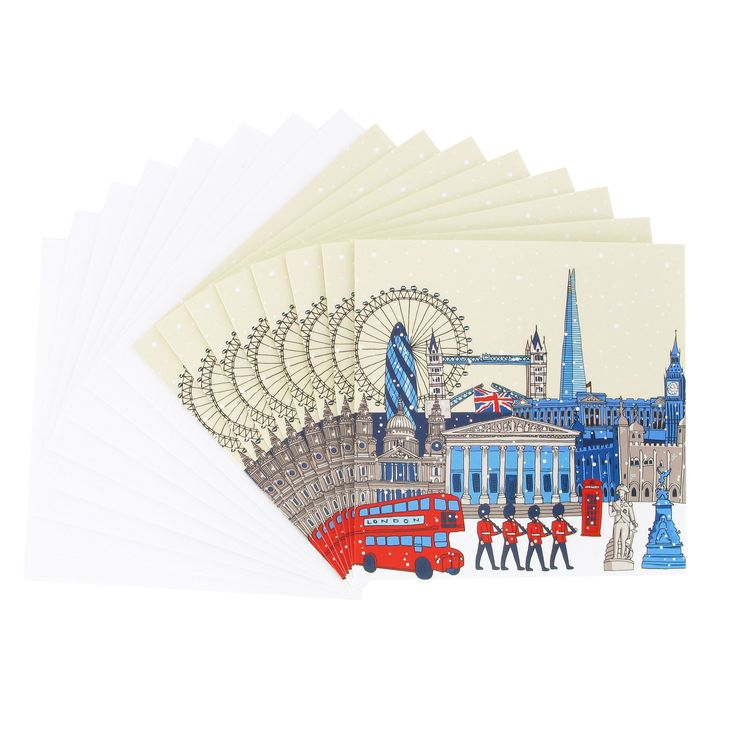 Museum & London in the snow Christmas cards (British Museum exclusive) at British Museum shop online