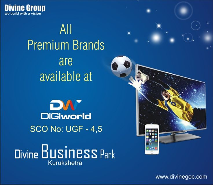 You can experience confident shopping for favorite gadget as #DIGIworld at #DivineBusinessPark, #Kurukshetra comprises all premium electronics brands.