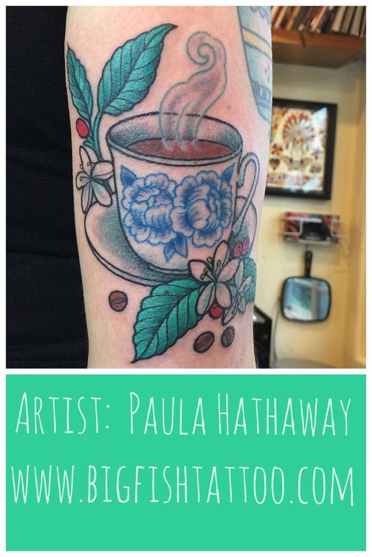 Larger preview vector clip art of a happy yellow coffee cup character - Coffee Coffee Cup Tattoo By Paula Hathaway Big